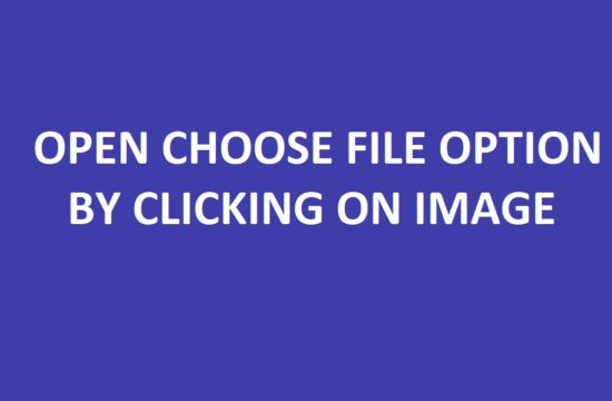 open choose file option