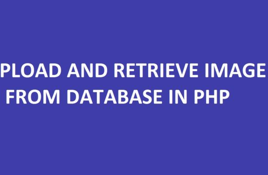 Upload and Retrieve Image From Database in PHP