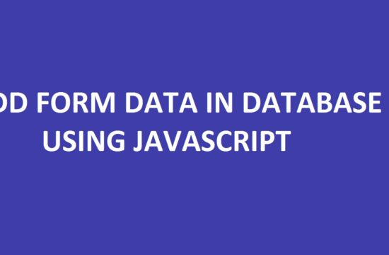 Add Form Data in Database Using JavaScript